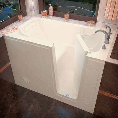 Buena Vista 54 x 30 Walk-In Bathtub Color: Biscuit, Drain Location: Right