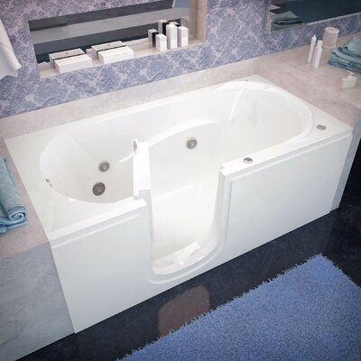 Stream 60 x 30 Whirlpool Jetted Bathtub Drain Location: Left