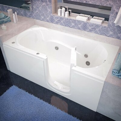 Stream 60 x 30 Whirlpool Jetted Bathtub Drain Location: Right