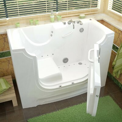 HandiTub 60 x 30 Air/Whirlpool Jetted Wheelchair Accessible Bathtub Drain Location: Right