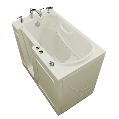 Prairie Thermalpeutic Heated 46 x 26 Walk In Air Bathtub Color: Biscuit, Drain Location: Left