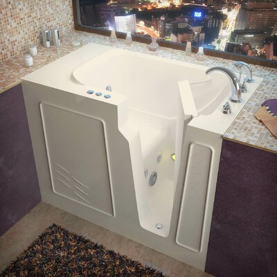 Flagstaff 52 x 29 Walk-In Whirlpool Bathtub Color: Biscuit, Drain Location: Right