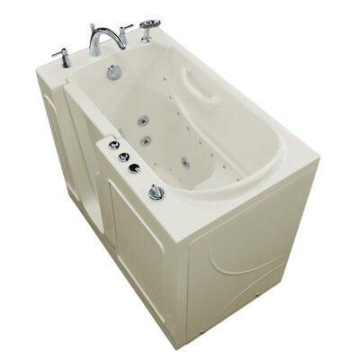 Prairie 46 x 26 Walk In Air/Whirlpool Bathtub Color: White, Drain Location: Left