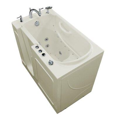 Prairie 46 x 26 Walk In Air/Whirlpool Bathtub Color: Biscuit, Drain Location: Left