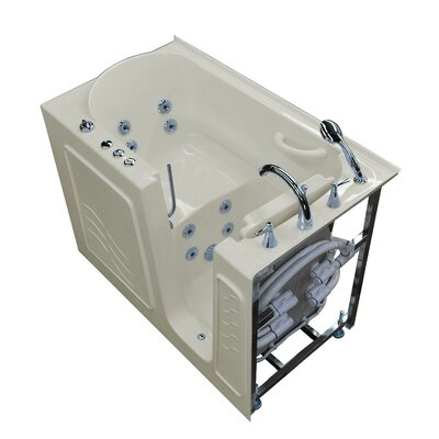 Ashton 53 x 30 Walk-In Whirlpool Bathtub Color: Biscuit, Drain Location: Right