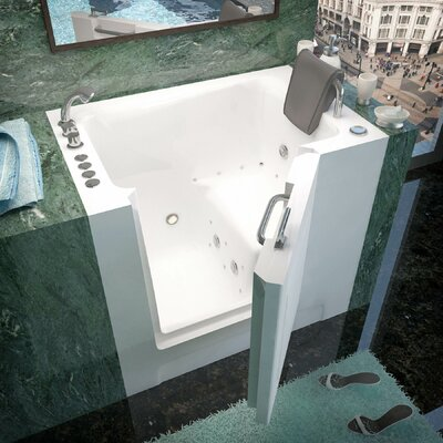 Catalina 39 x 27 Walk-In Air and Whirlpool Jetted Bathtub Drain Location: Left