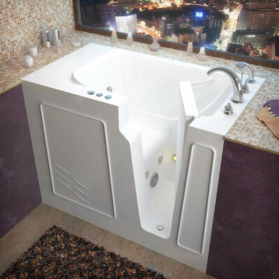 Flagstaff 52 x 29 Walk-In Whirlpool Bathtub Color: White, Drain Location: Right