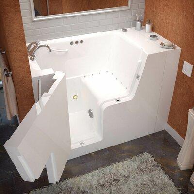 Mohave 53 x 29 Air & Whirlpool Jetted Wheelchair Accessible Bathtub Drain Location: Left
