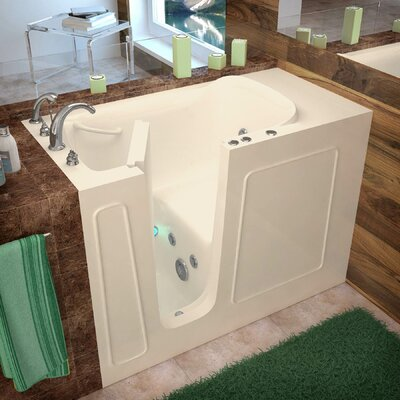 Santa Fe 53 x 26 Walk-In Whirlpool Bathtub Color: Biscuit, Drain Location: Left
