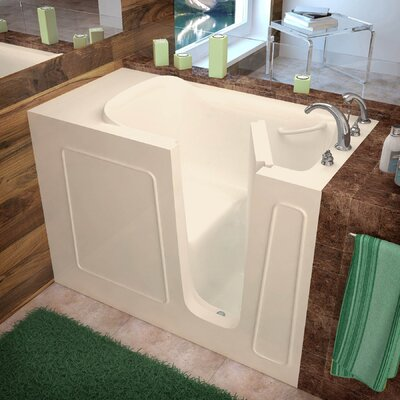 Santa Fe 53 x 26 Walk-In Bathtub Color: Biscuit, Drain Location: Right