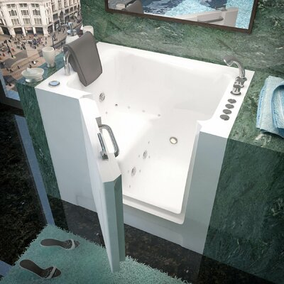Catalina 39 x 27 Whirlpool & Air Jetted Bathtub Drain Location: Left
