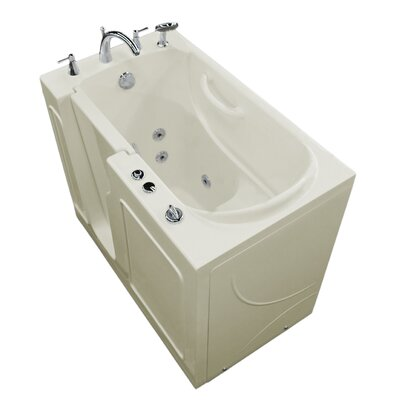 Prairie Thermalpeutic Heated 46 x 26 Walk In Whirlpool Bathtub Color: White, Drain Location: Left