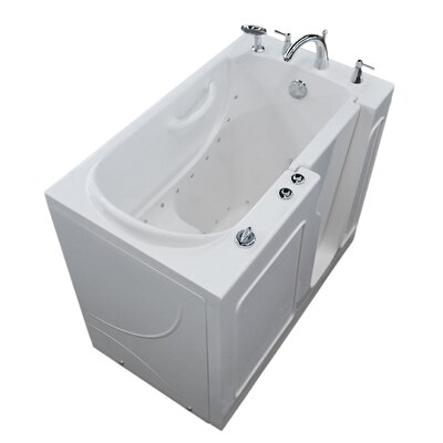 Prairie 46 x 26 Walk In Air Bathtub Color: White, Drain Location: Left