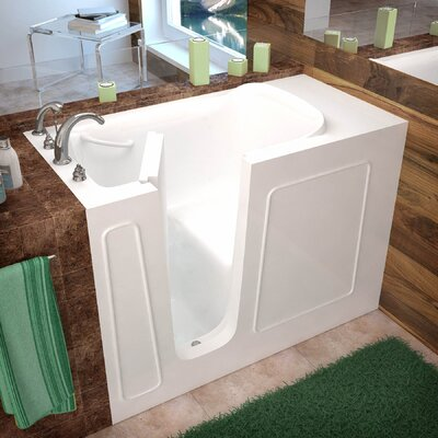 Santa Fe 53 x 26 Walk-In Bathtub Drain Location: Left, Color: White