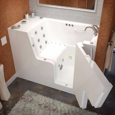 Mohave 53 x 29 Whirlpool & Air Jetted Wheelchair Accessible Bathtub Drain Location: Right
