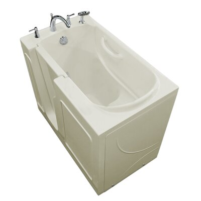 Prairie 46 x 26 Walk In Soaking Bathtub Color: Biscuit, Drain Location: Left