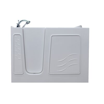 Ashton 29.5 x 52.8 Soaking Bathtub Drain Location: Left, Finish: White