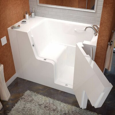 Mohave 53 x 29 Soaking Wheelchair Accessible Bathtub Drain Location: Right
