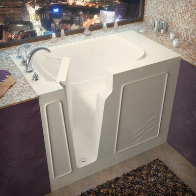 Flagstaff 52 x 29 Walk-In Bathtub Color: Biscuit, Drain Location: Right