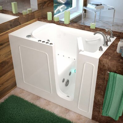 Santa Fe 52.7 x 26.3 Whirlpool & Air Jetted Bathtub Drain Location: Right, Finish: White