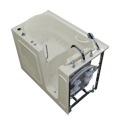 Ashton 53 x 30 Walk-In Air Jetted Bathtub Color: Biscuit, Drain Location: Right
