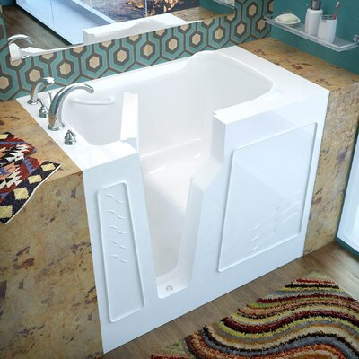 Prairie 45.7 x 26 Soaking Bathtub Finish: White, Drain Location: Left
