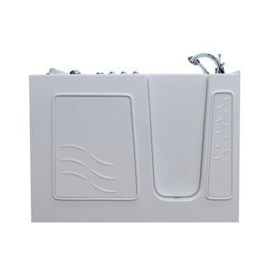 Santa Fe 53 x 26 Walk-In Air and Whirlpool Jetted Bathtub Color: White, Drain Location: Right