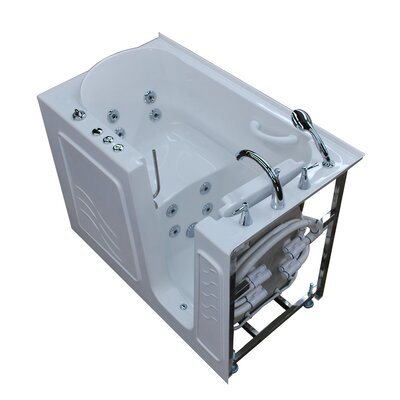 Ashton 53 x 30 Walk-In Whirlpool Bathtub Color: White, Drain Location: Right