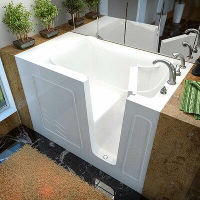 Ashton 52.8 x 29.5 Soaking Bathtub with Right Drain Finish: White