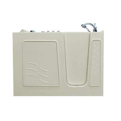 Santa Fe 53 x 26 Walk-In Air and Whirlpool Jetted Bathtub Color: Biscuit, Drain Location: Right