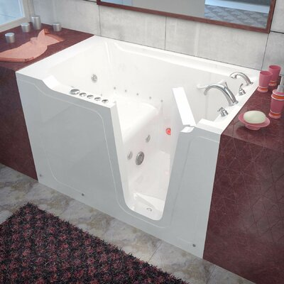 Crescendo 59.7 x 35.8 Whirlpool & Air Jetted Bathtub Drain Location: Right