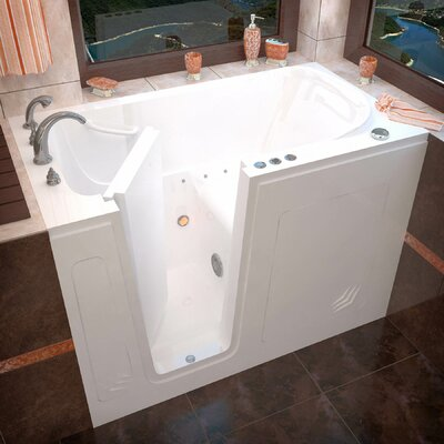 Buena Vista 53.8 x 29.8 Air Jetted Bathtub Finish: White, Drain Location: Left