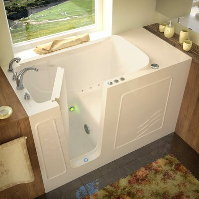 Tucson 60 x 30 Air Jetted Bathtub Finish: Biscuit, Drain Location: Left