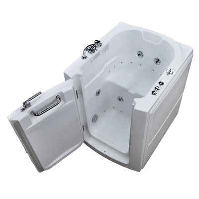 Durango 32 x 37.2 Whirlpool & Air Jetted Bathtub Drain Location: Left
