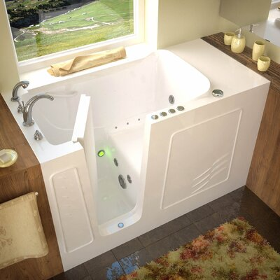 Tucson 60 x 30 Whirlpool & Air Jetted Bathtub Drain Location: Left, Finish: White