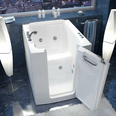 Durango 32 x 38 Whirlpool Jetted Bathtub Drain Location: Left
