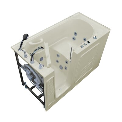 Tucson 60 x 30 Walk-In Whirlpool Bathtub Drain Location: Left, Color: Biscuit