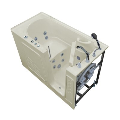 Tucson 60 x 30 Walk-In Whirlpool Bathtub Drain Location: Right, Color: Biscuit