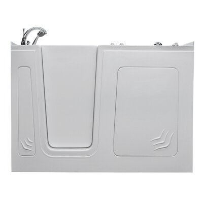 Aspen 60 x 32 Walk-In Air Jetted Bathtub Color: White, Drain Location: Left
