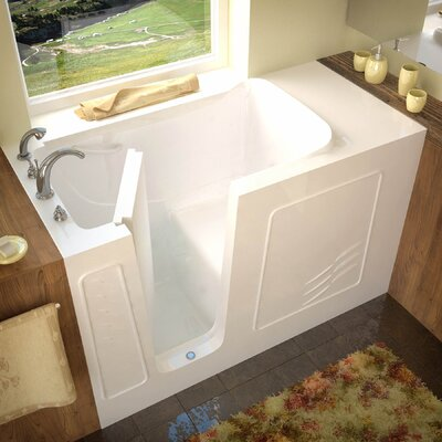 Tucson 60 x 30 Soaking Bathtub Drain Location: Left, Finish: White