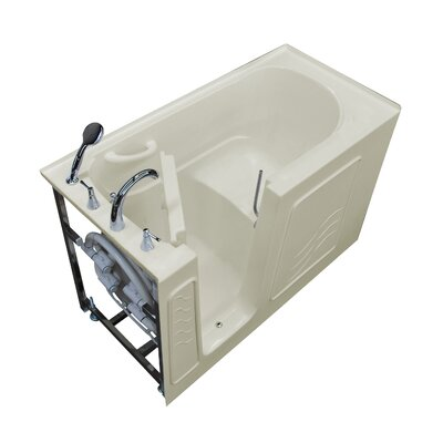 Tucson 60 x 30 Walk-In Bathtub Color: Biscuit, Drain Location: Left