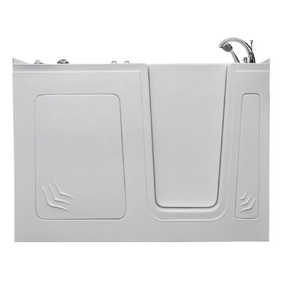 Aspen 60 x 32 Walk-In Air Jetted Bathtub Drain Location: Right, Color: White
