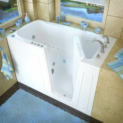 Aspen 60 x 32 Whirlpool & Air Jetted Bathtub Drain Location: Right, Finish: White