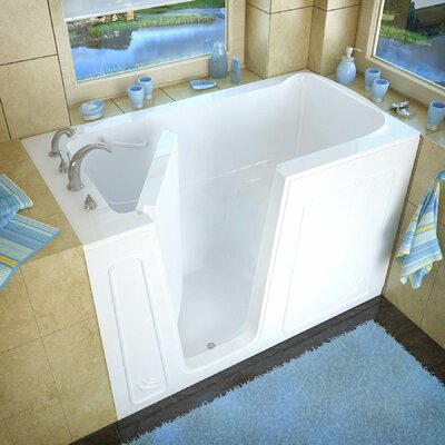 Aspen 60 x 32 Walk-In Bathtub Color: White, Drain Location: Left