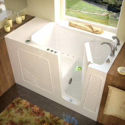 Tucson 60 x 30 Air Jetted Bathtub Finish: White, Drain Location: Right