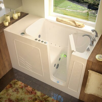 Tucson 60 x 30 Whirlpool & Air Jetted Bathtub Drain Location: Right, Finish: Biscuit