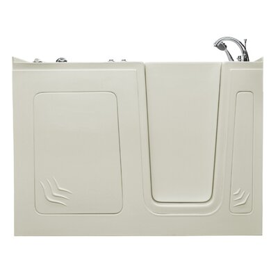 Aspen 60 x 32 Walk-In Air Jetted Bathtub Color: Biscuit, Drain Location: Right