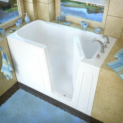 Aspen 60 x 32 Soaking Bathtub Drain Location: Right, Finish: White