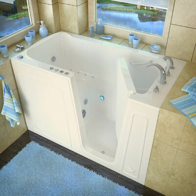 Aspen 60 x 32 Whirlpool & Air Jetted Bathtub Drain Location: Right, Finish: Biscuit