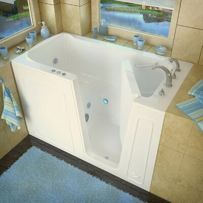 Aspen 60 x 32 Walk-In Whirlpool Bathtub Color: Biscuit, Drain Location: Right